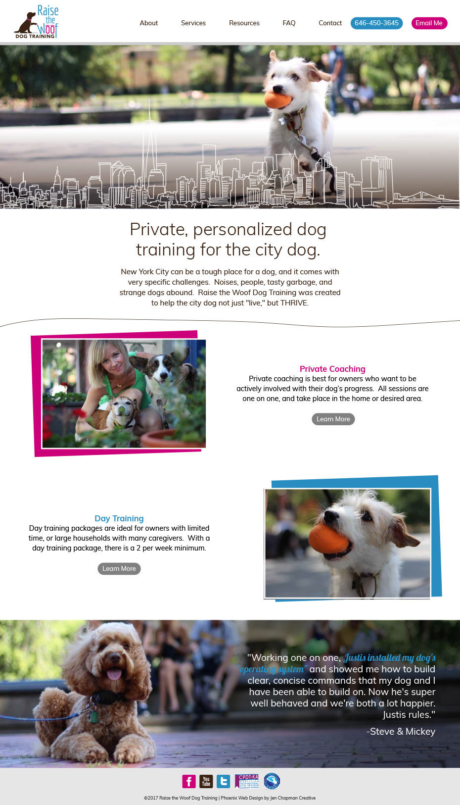Raise the Woof! Phoenix Website Design