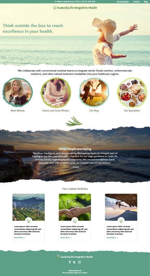 Audacity Life Phoenix Website Design
