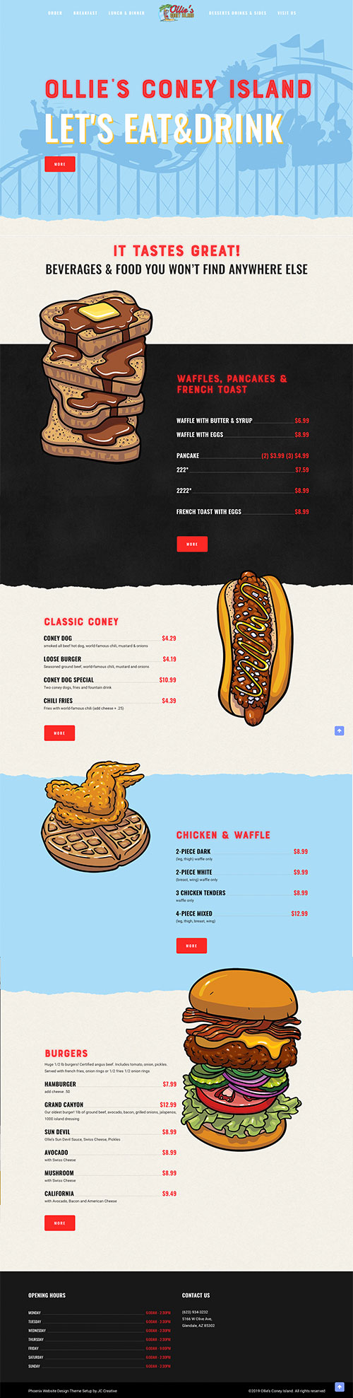 Phoenix Website Design Ollies Coney Island