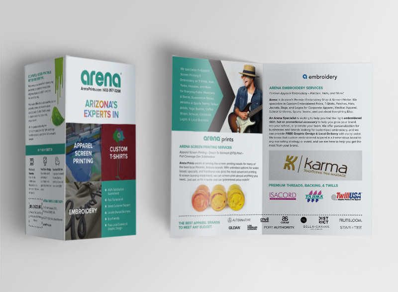Arena Prints Brochure Design